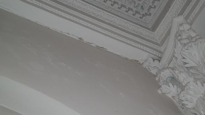plasterwork damage from leak